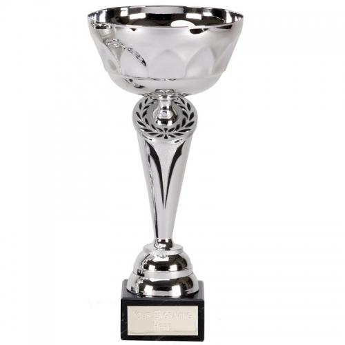 Cygnus10 Presentation Cup Silver/Black 10 Inch