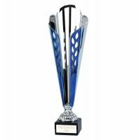 Grand Ty-Cone Presentation Cup Silver/Blue 12 Inch
