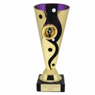 Carnival Cup Purple/Gold 6.75 Inch