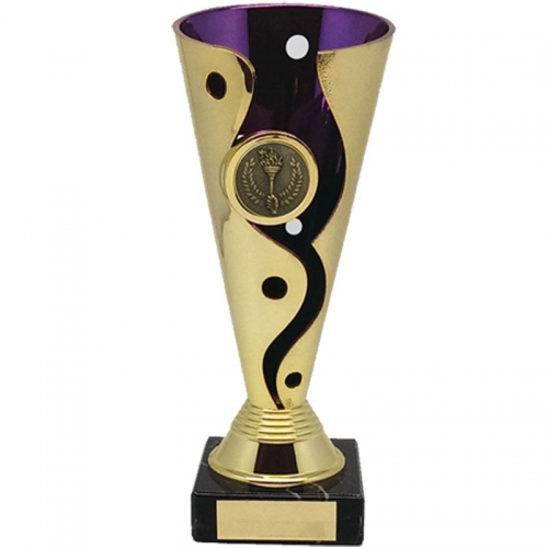 Carnival Cup Purple/Gold 7.5 Inch