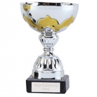 Eagle Gilt Presentation Cup Silver/Gold 5.75 Inch