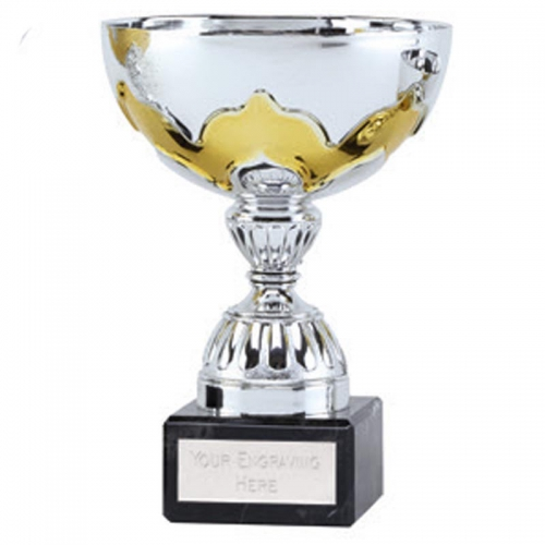 Eagle Gilt Presentation Cup Silver/Gold 6 1/8 Inch
