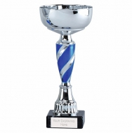 Saturn7 Presentation Cup Silver/Blue 7.25 Inch