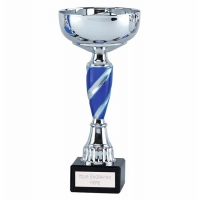 Saturn8 Presentation Cup Silver/Blue 8 Inch