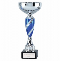 Saturn9 Presentation Cup Silver/Blue 9.75 Inch