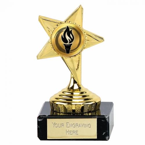 Gold Star Trophy 4 1 8 Inch (10.5cm) : New 2019