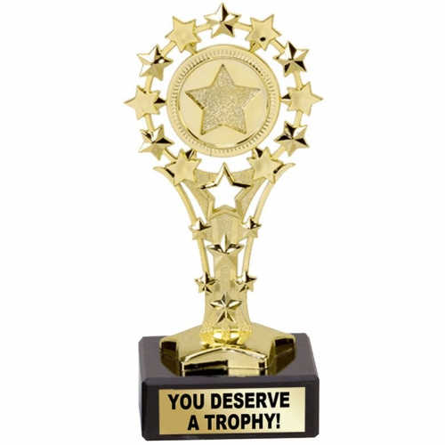 All Star 'You Deserve A Trophy' Awa - Gold - 5.25 inch (13.5cm)- New 2018