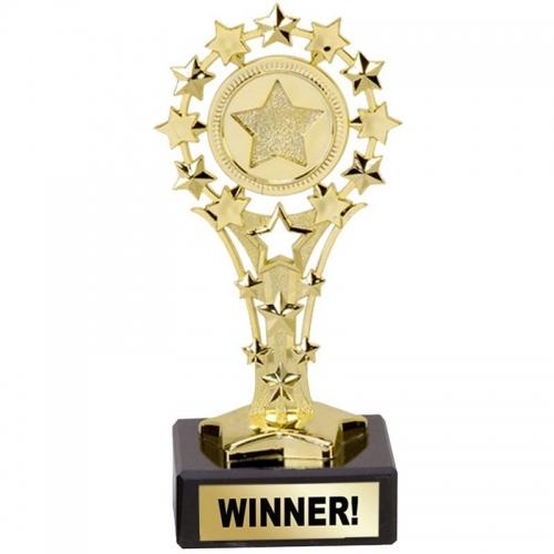 All Star 'Winner' Award - Gold - 5.25 inch (13.5cm) - New 2018