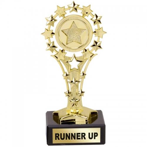 All Star 'Runner Up' Award - Gold - 5.25 inch (13.5cm)- New 2018
