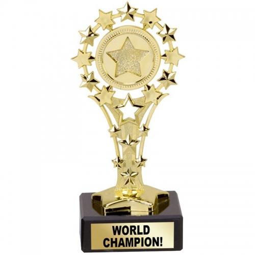All Star 'World Champion' Award - Gold - 5.25 inch (13.5cm)- New 2018