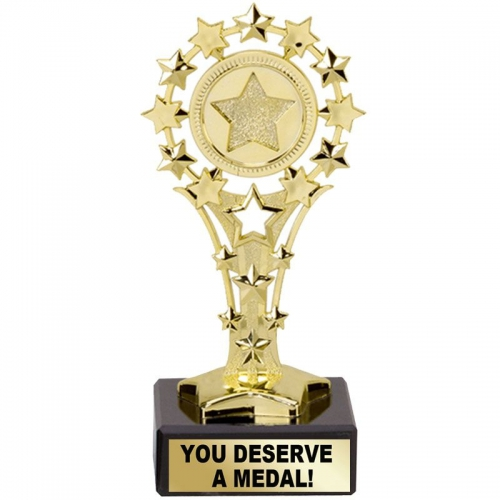 All Star 'You Deserve a Medal' - Gold - 5.25 inch (13.5cm) - New 2018