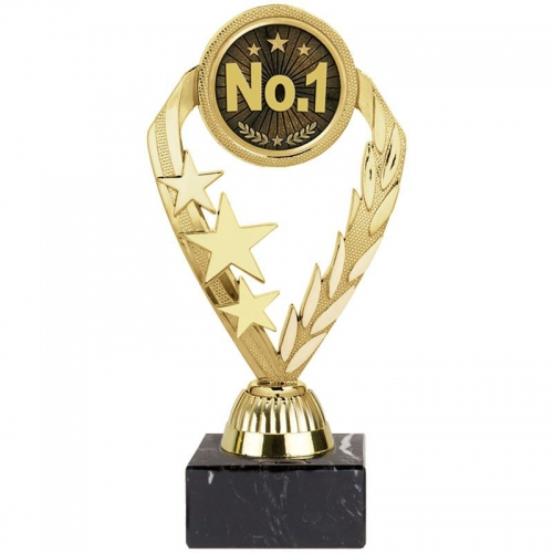 Tri-Star 'No 1' Award - Gold - 7.75 inch (19.5cm) - New 2018