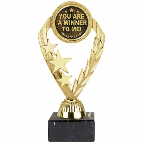 Tri-Star 'You are a Winner to me' A - Gold - 7.75 inch (19.5cm) - New 2018
