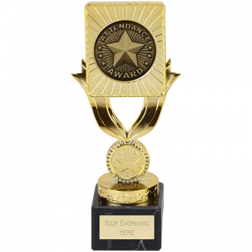 Lynx Attendance Trophy - Gold - 7.25 (18.5cm) - New 2018