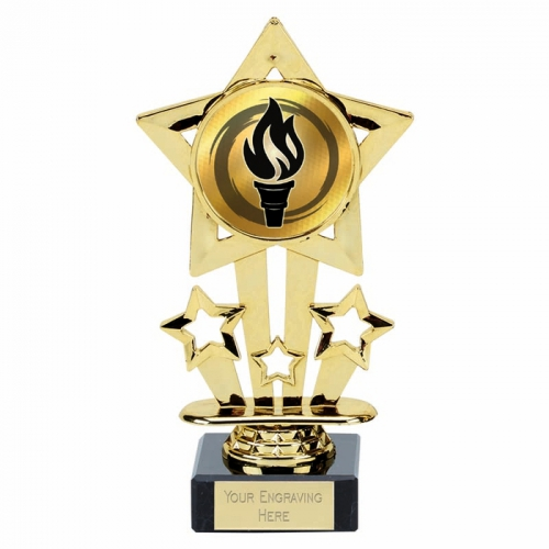 Super Star Gold Holder on Marble 6.75 Inch (17cm) : New 2019