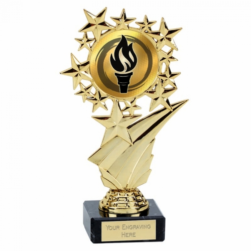 Star Halo Gold Holder on Marble 6.75 Inch (17cm) : New 2019