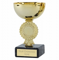 Rosette Gold Cup 4.5 Inch (11.5cm) : New 2019