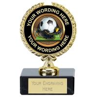 Personalised Football Award 3.5 Inch (9cm) : New 2019