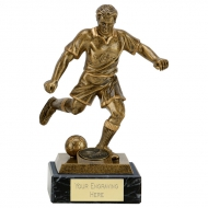 R005A Football Award on marble 7.25 Inch (18.5cm) : New 2019