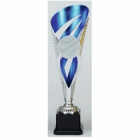 Grand Voyager Presentation Cup Trophy Award Silver/Blue 12.5 Inch (31.5cm) : New 2020