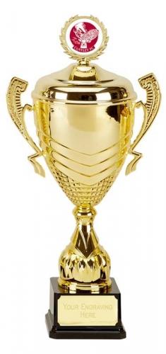 Link Prestige Gold Presentation Cup Trophy Award 16 5/8 Inch (42cm) : New 2020