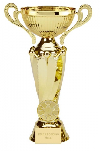 Tower Twin Gold Presentation Cup Trophy Award 7 5/8 Inch (19.5cm) : New 2020