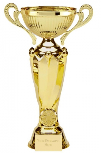 Tower Twin Gold Presentation Cup Trophy Award 11.75 Inch (30cm) : New 2020