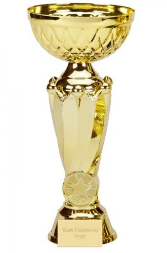 Tower Tweed Gold Presentation Cup Trophy Award 8.75 Inch (22cm) : New 2020