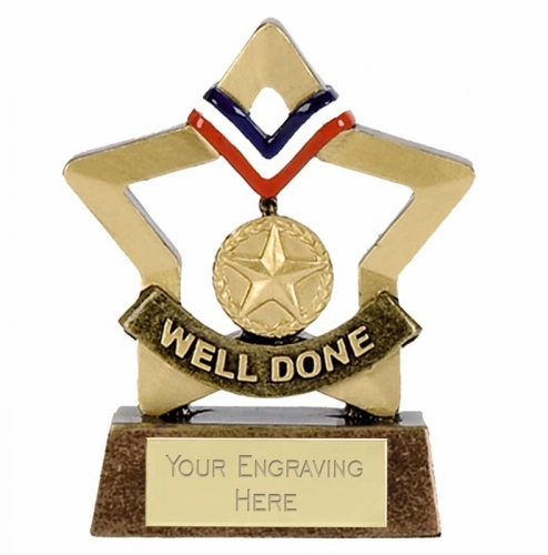 Mini Star Well Done Award Trophy AGGT 3.25 Inch