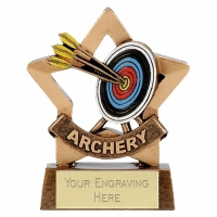 Mini Star Archery Trophy Award AGGT 3.25 Inch