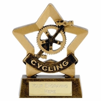 Mini Star Cycling Trophy Award AGGT 3.25 Inch