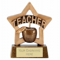 Mini Star Teacher Award Trophy AGGT 3.25 Inch
