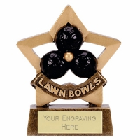 Mini Star Lawn Bowls Award Trophy AGGT 3.25 Inch