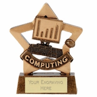 Mini Star Computing Award Trophy AGGT 3.25 Inch