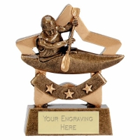 Mini Star Canoeing Award Trophy AGGT 3.25 Inch