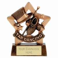 Mini Star Tap Dancing Award Trophy AGGT 3.25 Inch
