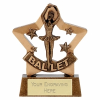 Mini Star Ballet Award Trophy AGGT 3.25 Inch