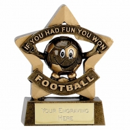Mini Star Football Participation Trophy Award AGGT 3.25 Inch