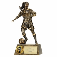 Pinnacle6 Football Trophy Female AGGT 6 Inch