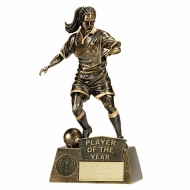 Pinnacle Female Football Trophy Award Player of the year- AGGT - 8.75 (22cm)- New 2018