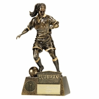 Pinnacle Female Football Trophy Award Clubman - AGGT - 8.75 (22cm)- New 2018
