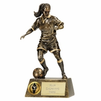 Pinnacle8 Football Trophy Female AGGT 8.75 Inch