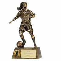 Pinnacle9 Football Trophy Female AGGT 9.5 Inch