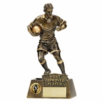 PINNACLE Rugby Trophy Award Most Improved Player - AGGT - 8.75 Inch (22cm)- New 2018