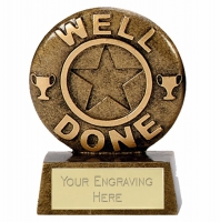 Mini Star Well Done Award Trophy AGGT 2 5/8 Inch