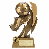 Gold Flash8 Football Boot Trophy AGGT 8.75 Inch