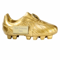 Premier7 Golden Boot Ebony Gold 7 Inch Football Trophy