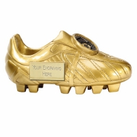 Premier5 Golden Boot Ebony Gold 5 Inch Football Trophy