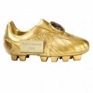 Premier6 Golden Boot Ebony Gold 5.75 Inch Football Trophy