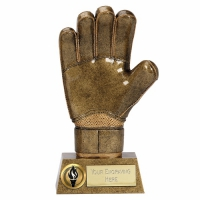 Pinnacle8 Goalie Glove AGGT 8.75 Inch Football Trophy